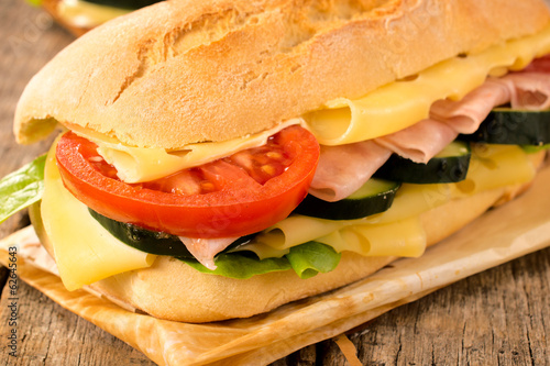 Macro shoot of sandwich
