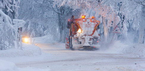 snow plough, Czech Republic