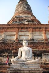 Ancient Buddha statue at Wat Yai Chaimongkolgkol