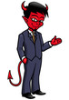 Vector illustration of Devil cartoon