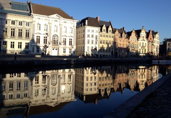 reflection of Ghent, Belgium (general style building in Ghent)