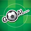 goal and football Vector