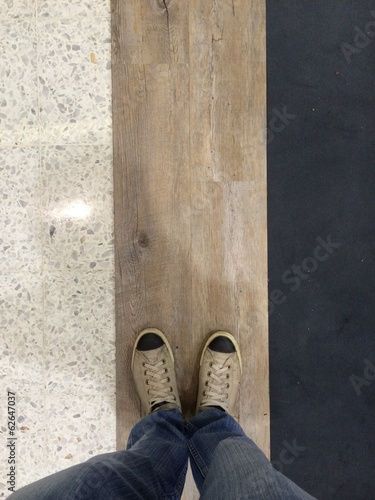 three tone floor