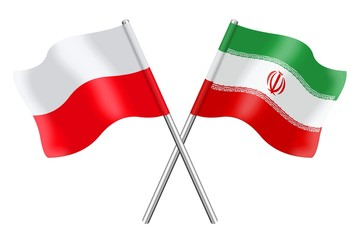 Flags: Poland and Iran