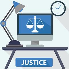 Justice concept,vector