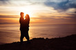 Couple in love at sunset - 62647479