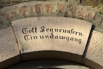 Hausinschrift in Extertal-Almena
