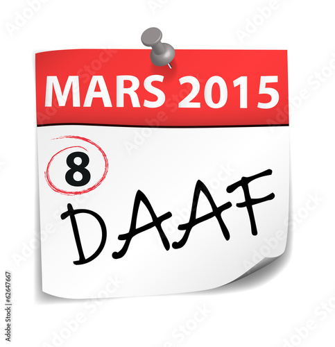post-it : 8 mars 2015 acronyme DAAF (cs5)