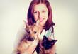 veterinarian cat and dog