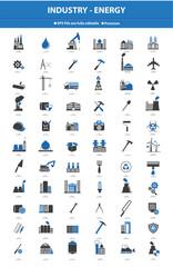 Industrial icon set,Blue version