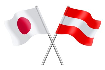 Flags : Japan and Austria