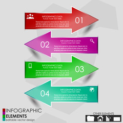 Modern business infographics option banner