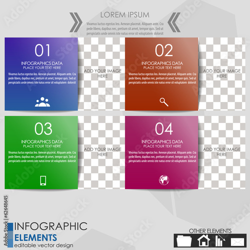 Modern business inforgraphics option banner