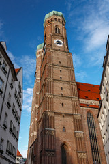 Church of Our Lady (Frauenkirche) in Munich at Night, Bavaria, G