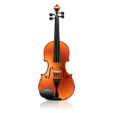Classic violin vector illustration