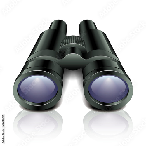 Black binoculars vector illustration