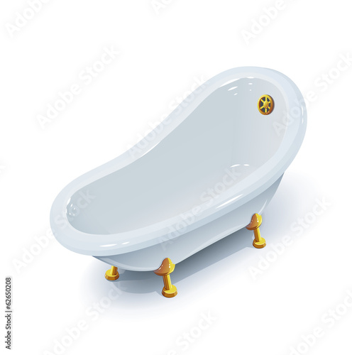 Bath. Eps10 vector illustration. Isolated on white background