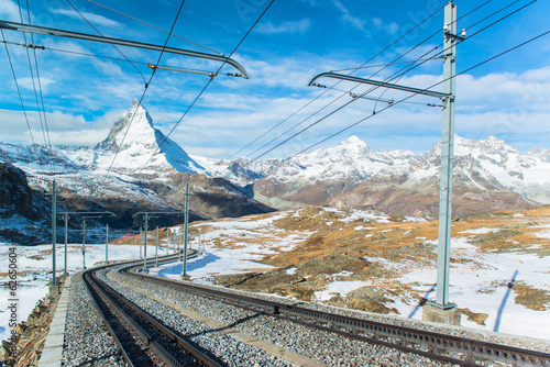 Matterhorn In Swiss Alps  Shot from the Zermatt side