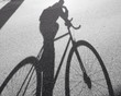 Leinwandbild Motiv bicycle shadow