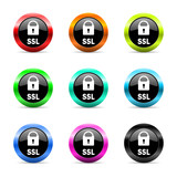 ssl icon vector set