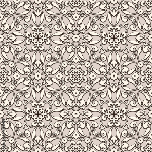Old lace, vintage seamless pattern