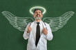 Doctor With Angel Wings and Halo
