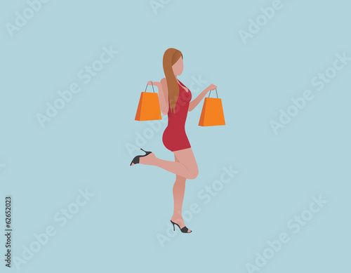 Shopping woman 01