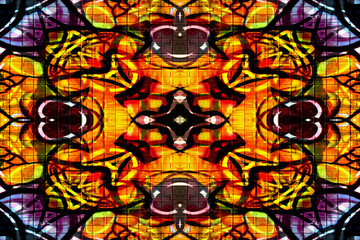 Colourful kaleidoscope pattern
