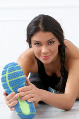 Sport. Beautiful, active brunette