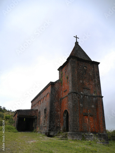Abandoned church, Bokor Hill Station, Cambodia
