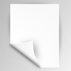 zettel papier weiß