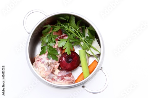 preparation of chicken soup