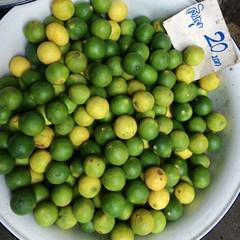 Limes in market