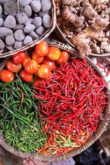 marché commerce de détail à Yoyakarta - Indonésie