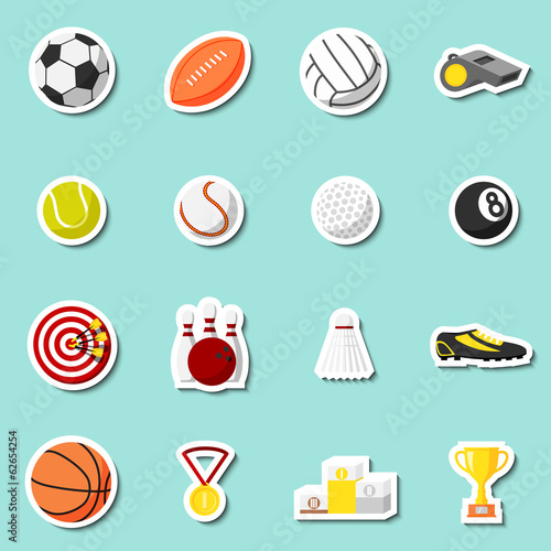 Sports stickers set
