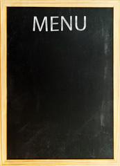 Menu - Tafel mit Kreideschrift