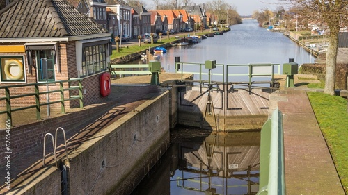 Historic sluice in the centre of Zwartsluis in the Netherlands