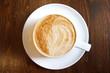 Classic foamy cappuccino