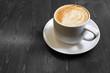 Classic foamy cappuccino in color