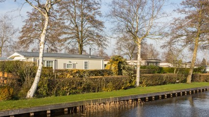 White Mobile home in Giethoorn
