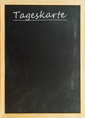 Tageskarte - Tafel mit weißer Kreideschrift