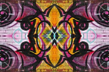 Colourful abstract graffiti