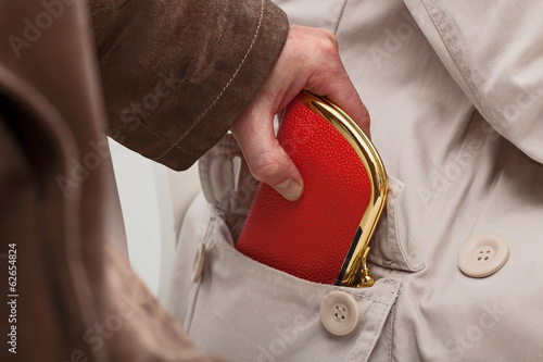 Pickpocket with wallet