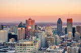 Fototapety Stunning Sunset over Downtown Montreal in Winter