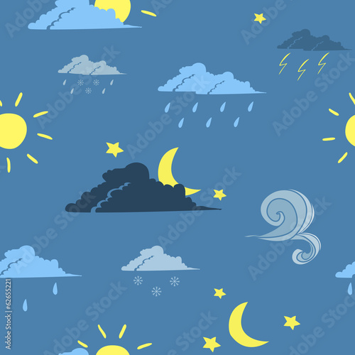 Seamless weather forecast background