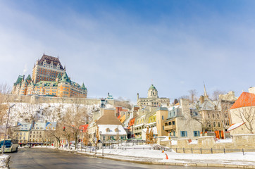 Quebec City Skyline on a Clear Winter Day