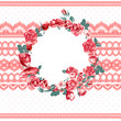 Vintage floral lace background with roses