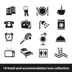 hotel and accommodation icons