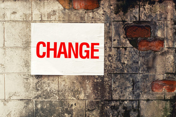Change Poster on grunge wall