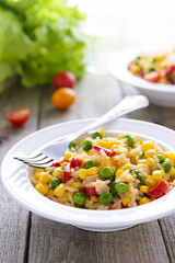 Vegetables risotto